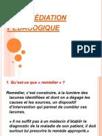 La Remédiation Pédagogique (1)