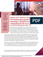Support more customers and get them from landing page to checkout faster by upgrading to a Dell EMC PowerEdge R740xd running Microsoft SQL Server 2017 Standard on Red Hat Enterprise Linux 7.5
