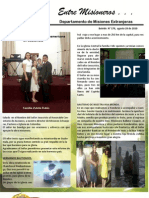 Boletin 179 Informe Misionero de Guatemala - Agosto 29 2010