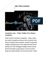 Poker Online Free Bonus Anapoker