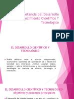 ROL E IMPORTANCIA DEL DESARROLLO TECNOLÓGICO
