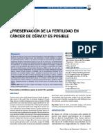 ¿Preservación de La Fertilidad en Cancer