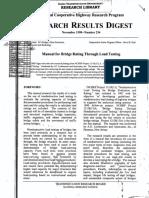 NCHRP-98-Manual for Bridge Rating Through Load Testing
