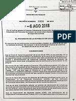 Decreto 1496 de 2018 Sistema Globalmente Armonizado
