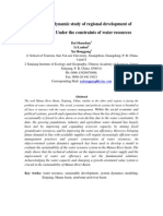 The System Dynamic Study of Regional Development of Manas Basin Under the Constraints of Water Resources