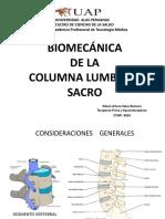 Biomecánica Lumbosacro