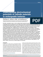 Understanding Electrochemical Potentials of Cathode Materials in Rechargeable