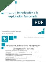 Introducción a La Explotación Ferroviaria