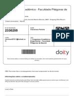 Comprovante de Inscrição - Doity
