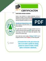 Publicidad para Certificacion