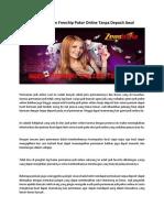 Memanfaatkan Freechip Poker Online Tanpa Deposit Awal.