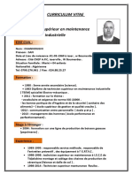 Cv Technicien Superieur Maintunance OUANOUGHI