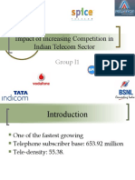 Impact of Increasing Competition in Indian Telecom Sector