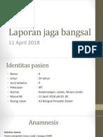 Laporan Jaga Bangsal 10-04-2018 Ny. Kartini