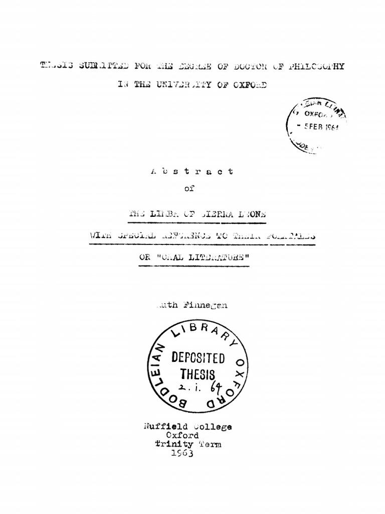 Limba Folktale Large File | Folklore | Social Anthropology