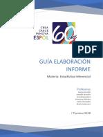 Guía Informe Estadístico