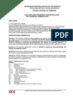 Reglamento de Simulacro Presencial Descentralizado de Admisión 2019-i