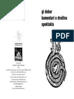 Guy Debord - Komentari o drustvu spektakla (novi prevod)