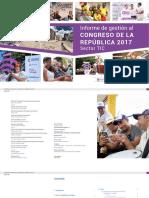 Informe de Gestión Al Congreso de La República 2017