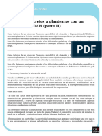 Objetivos Concretos a Plantearse Con Un Alumno Con TDAH II