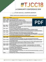 #Tjcc18 Programme 2018