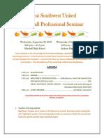 Great Southwest United Fall Professional Seminar