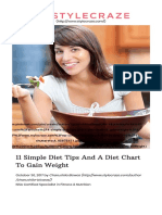 11 Simple Diet Tips and a Diet Chart to Gain Weight