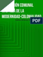 Producción Comunal Más Allá de La Modernidad-colonialidad. Dafnis Domínguez