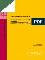 Bibliographie Seminaire Bilingue Enseigner Le Francais Dans Les Sections Bilingues