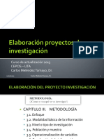 Elaboración Proyectos de Investigación CAPITULO 3