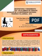 Tesis (Tutoría Universitaria y Rendimiento Académico de Los Alumnos de Ciencias Sociales de La Universidad Nacional Federico Villarreal)