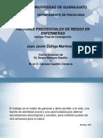 Prevención de Factores de Riesgo Psicosociales en Enfermeras. Investigación