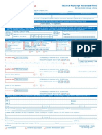 Reliance Arbitrage Advantage Fund Application Form
