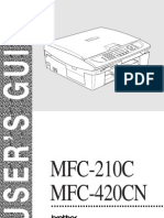 Brother MFC 420CN mAnual