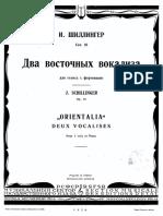 2 vocalises by Joseph Schillinger