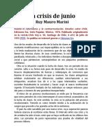 La crisis de junio Ruy Mauro Marini