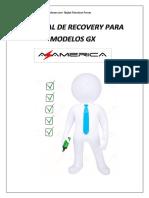 Tutorial de Recovery via USB Az-America Modelos GX Em PDF