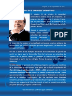 Carta de Carlos Ossa a La Comunidad