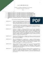 Ley Nº I-0001-2004 Plan de Inclusión Social