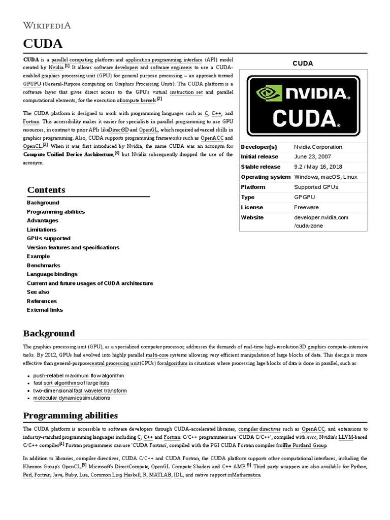 Cuda   Computer Engineering   Software Engineering