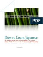 How to Learn Japanese 1