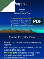 Proyeksi & Sistem Koordinat Peta