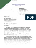 FERC ACP Stop Work Order