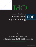 E.M. Badawi, Arabic-English-Dictionary of Quranic Usage