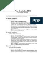 Plan de Estudio 2015 Comunicado Derecho