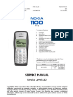 Nokia 1100 Service Manual Level 1 2