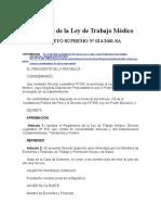 2001 DS 024-SA Reglamento de La Ley de Trabajo Médico