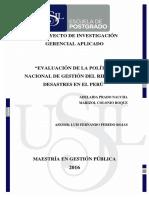 2016 Colonio Evaluacion de La Politica Nacional de Gestion Del Riesgo de Desastres en El Peru (1)