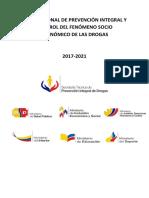 PLAN NACIONAL DE PREVENCIÓN INTEGRAL Y CONTROL DEL FENÓMENO SOCIO ECONÓMICO DE LAS DROGAS 2017-2021%281%29.pdf