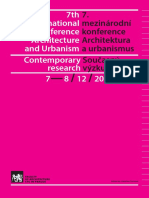 7th 7. International mezinárodní conference konference Architecture Architektura and Urbanism a urbanismus Contemporary Současný research výzkum 7— 8 / 12 / 2017 Edited